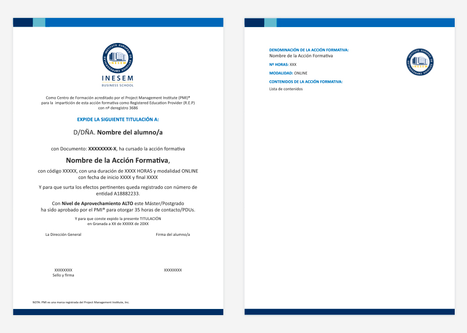 Certificado Project Management Professional