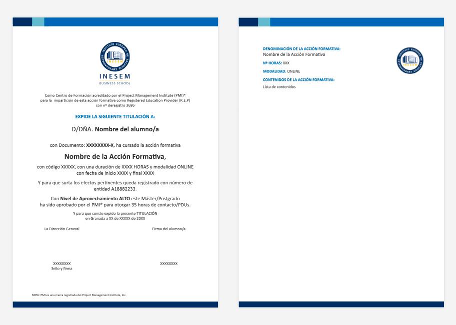 Certificado Project Management Professional